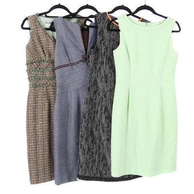 Elie Tahari and Kay Unger Tailored Sleeveless Dresses