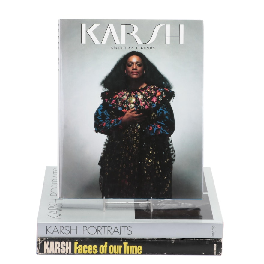 """Signed First Edition """"American Legends"""" and More by Yousuf Karsh"""