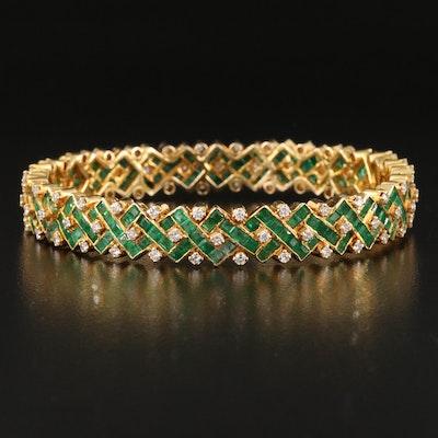 14K 2.01 CTW Diamond and Emerald Bracelet