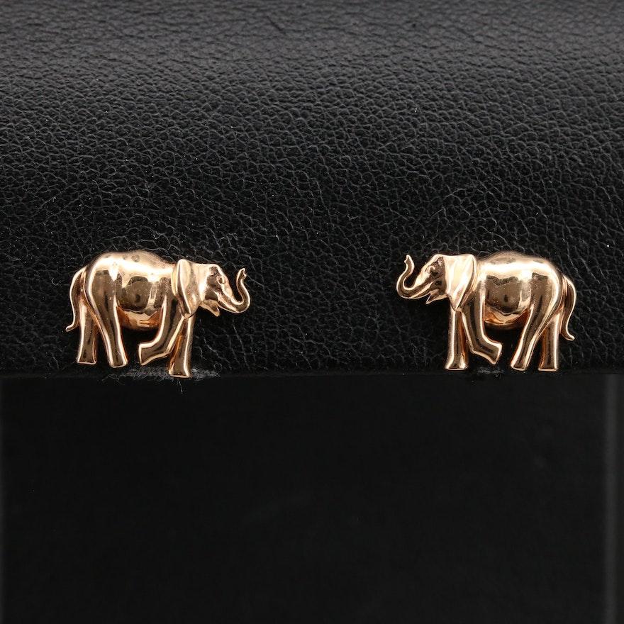 Noémie 18K Elephant Stud Earrings