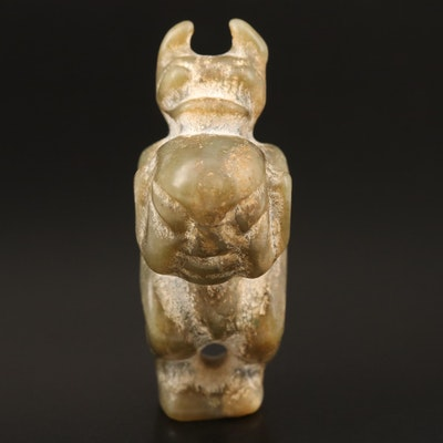 Hongshan Style Carved Serpentine Figure
