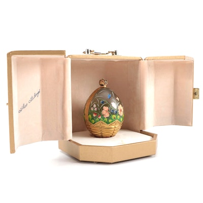 """Theo Fabergé St. Petersburg Collection """"Summer Egg"""" and Case"""