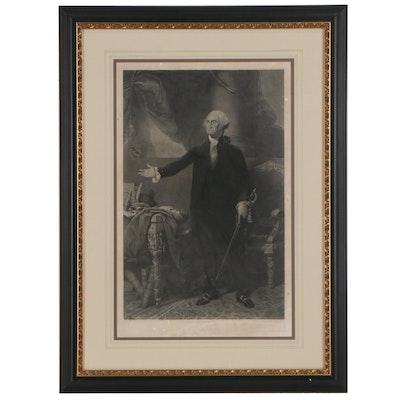Waterman Lilly Ormsby Steel Engraving of George Washington