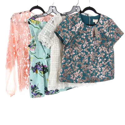 Liefsdottir and J. Crew Collection Tops with Alexis Lace Jacket