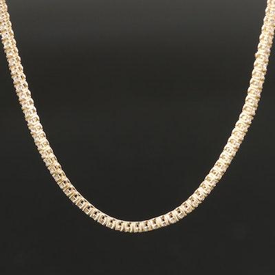 14K 2.25 CTW Diamond Rivière Necklace