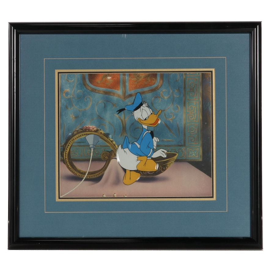 Disney Hand-Painted Animation Production Cel of Donald Duck