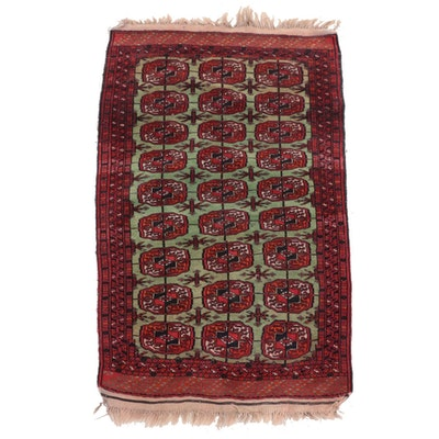 2'7 x 4'11 Hand-Knotted Turkmen Tekke Bokhara Accent Rug