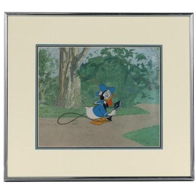 Disney Animation Production Cel of Donald Duck, 1960s