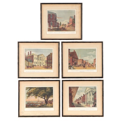 Philadelphia Scene Offset Lithographs After W. Birch & Son, Late 20th Century
