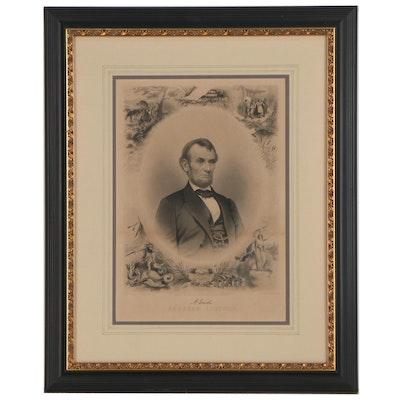 "J.C. Buttre Etching After Mathew Brady ""Abraham Lincoln"""