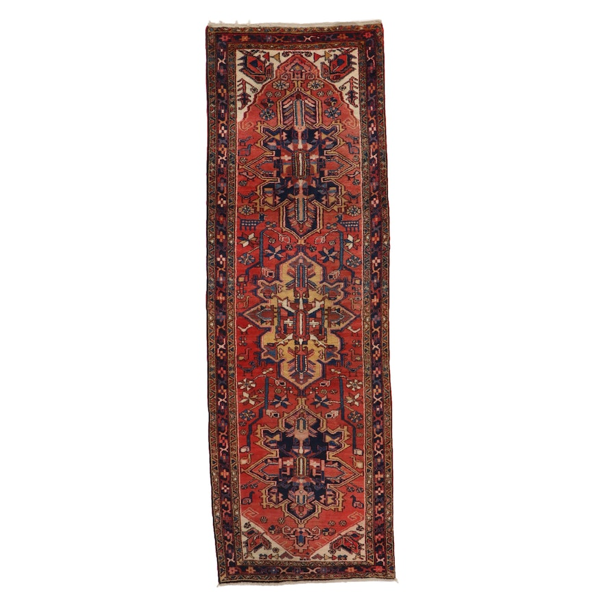 3'5 x 11' Hand-Knotted Persian Pictorial Long Rug