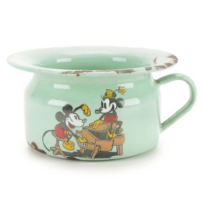 Richard G. Krueger for Disney Mickey Mouse Enameled Child's Chamber Pot