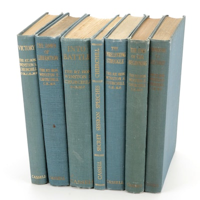 """First UK Edition """"Into Battle"""" and More Speeches by Winston S. Churchill"""
