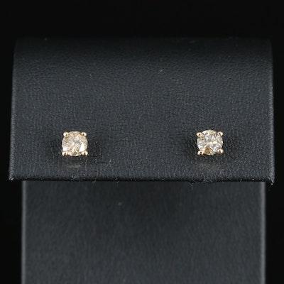 14K 0.80 CTW Diamond Stud Earrings