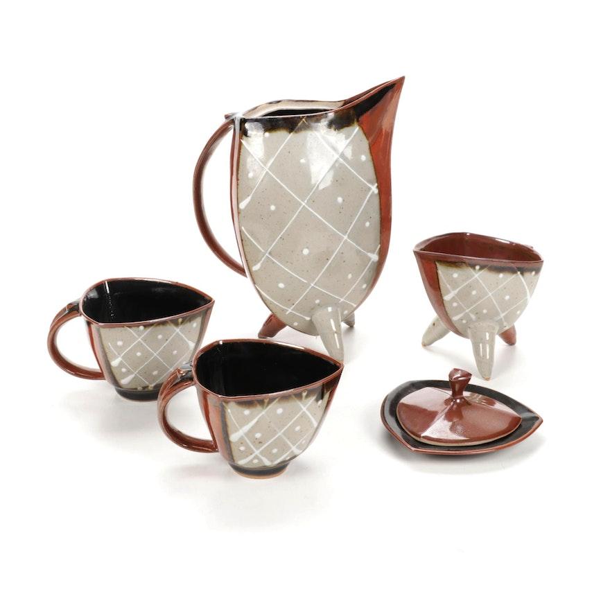 Handmade Art Pottery Coffee Set