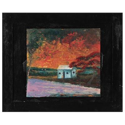 "Chico Wheeler Impasto Oil Painting ""Florida Highway Men"" Series"