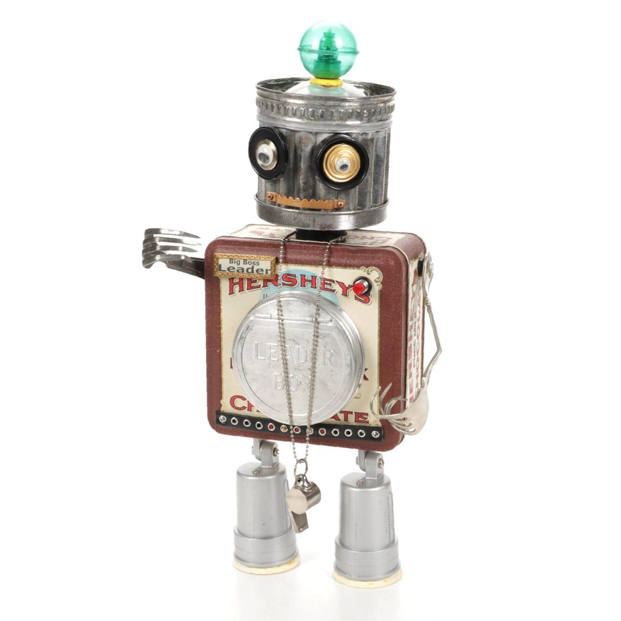 Allii Cat Designs Junkyard Robot Sculpture
