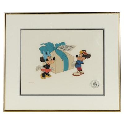 "Disney Animation Cel ""Mickey's Birthday Party,"" 1978"