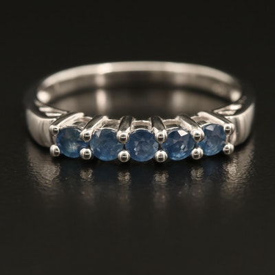 Sterling Sapphire Five Stone Ring