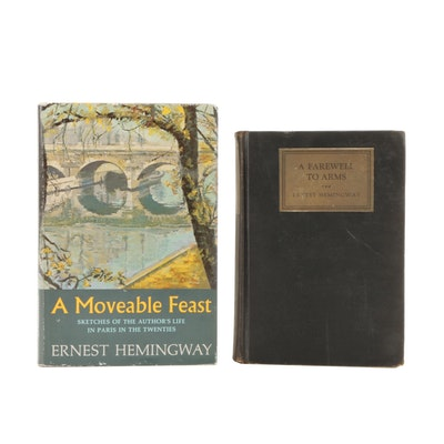"""First Trade Edition """"A Farewell to Arms"""" and First Edition """"A Moveable Feast"""""""