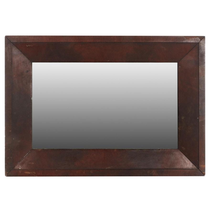 American Empire Mahogany Mirror, Mid to Late 19th Century