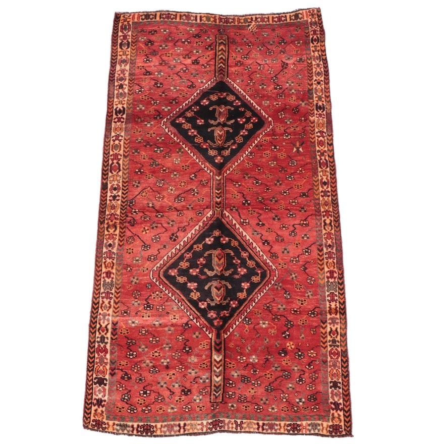 5' x 9'5 Hand-Knotted Persian Shiraz Qashqai Area Rug