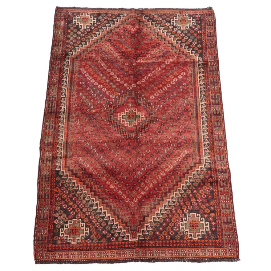 4'10 x 7'5 Hand-Knotted Persian Qashqai Area Rug