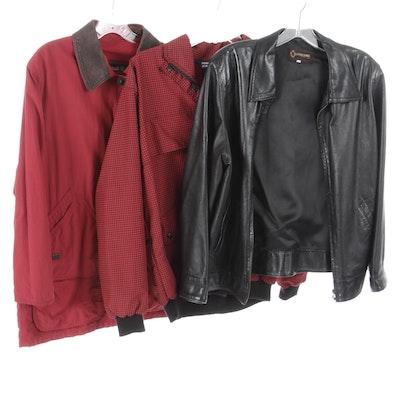 Timberland, Sunderland of Scotland and Leather School Jackets