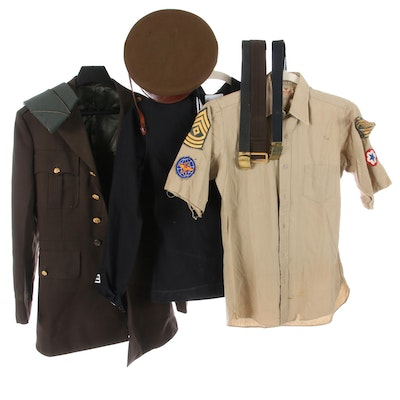 Men's Army Officers and Navy Uniforms with Accessories