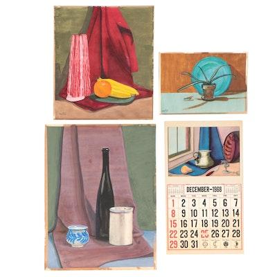 Still Life Gouache Paintings, 1956