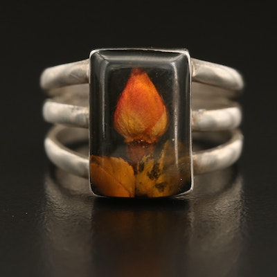 Mexican Sterling Dried Flower Ring