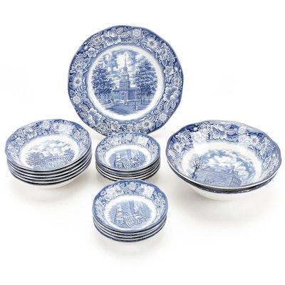 "Staffordshire ""Liberty Blue"" Ironstone Dinnerware, 1975–1981"