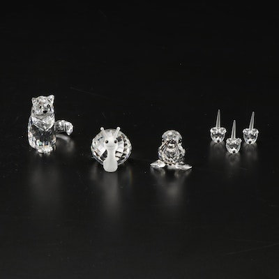 Swarovski Crystal Snail, Seal Baby and Other Animal Figurines