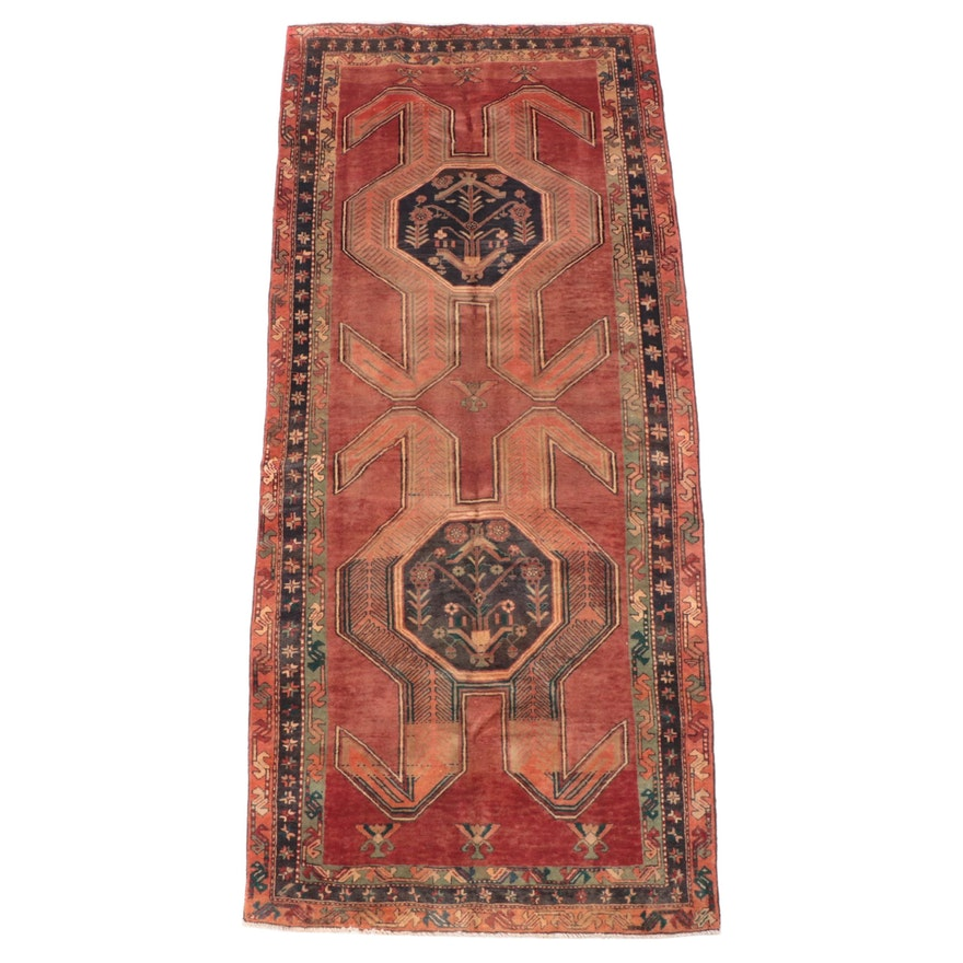 4'3 x 9'11 Hand-Knotted Caucasian Lenkoran Long Rug