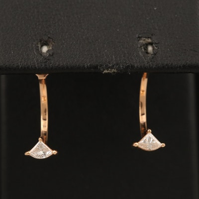 Noémie 18K Rose Gold Diamond Earring Enhancers