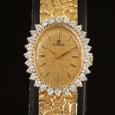 Omega 14K Diamond Wristwatch