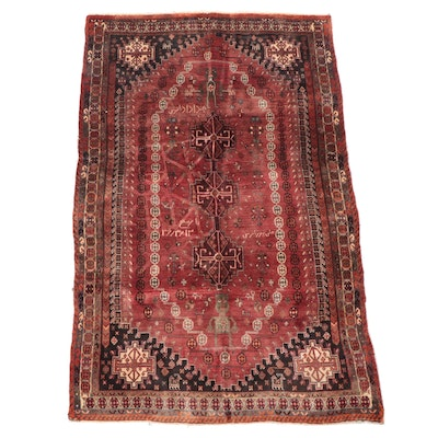 5'3 x 7'11 Hand-Knotted Persian Qashqai Area Rug
