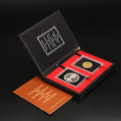 The Cayman Islands 1976 $100 Gold and $50 Silver Six-Sovereign Queens Coins
