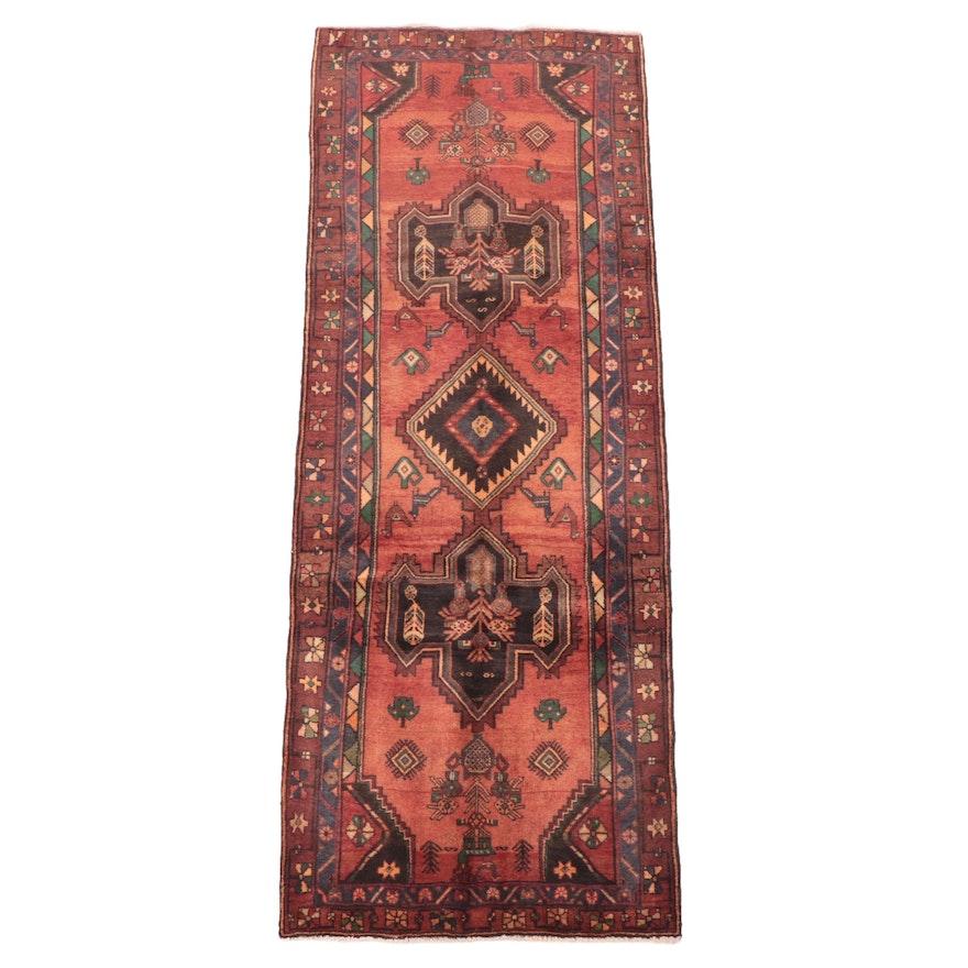 3'8 x 9'11 Hand-Knotted Persian Kurdish Long Rug