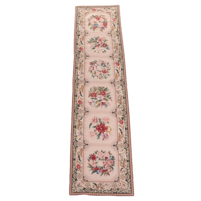 2'6 x 10' Handmade Chinese Aubusson Style Needlepoint Carpet Runner