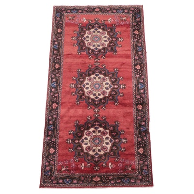 4'11 x 9'6 Hand-Knotted Northwest Persian Malayer Area Rug