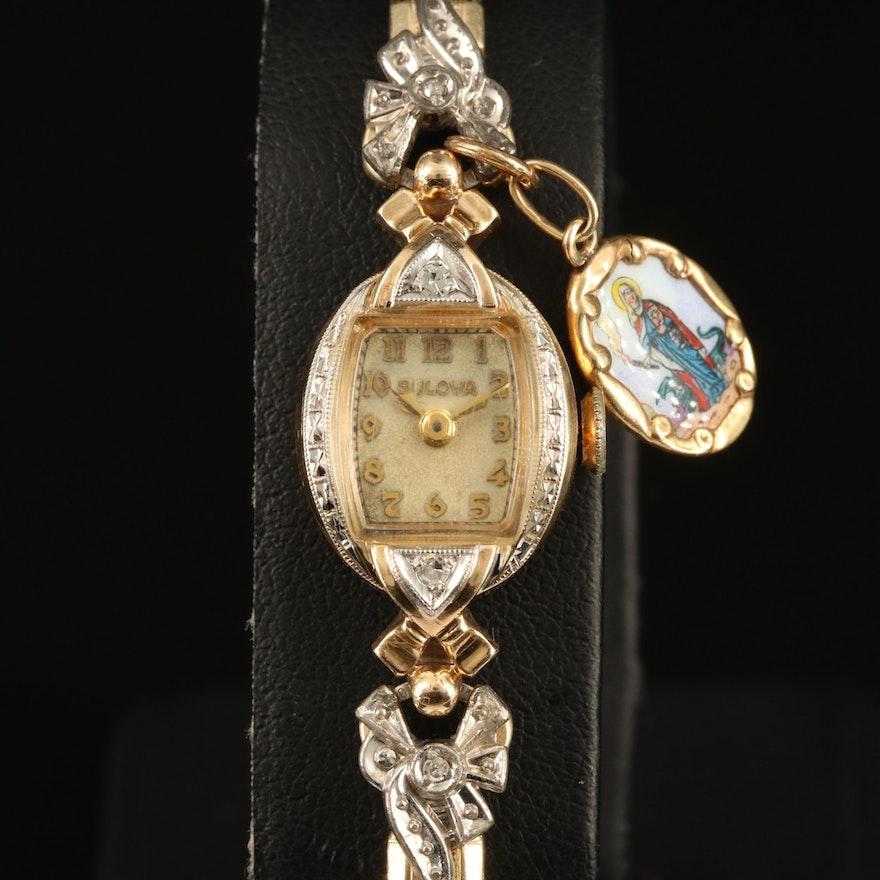 1946 14K Bulova Diamond Wristwatch