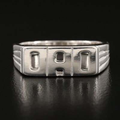 """Sterling Silver """"DAD"""" Ring"""