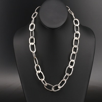 Mexican Sterling Cable Chain Necklace