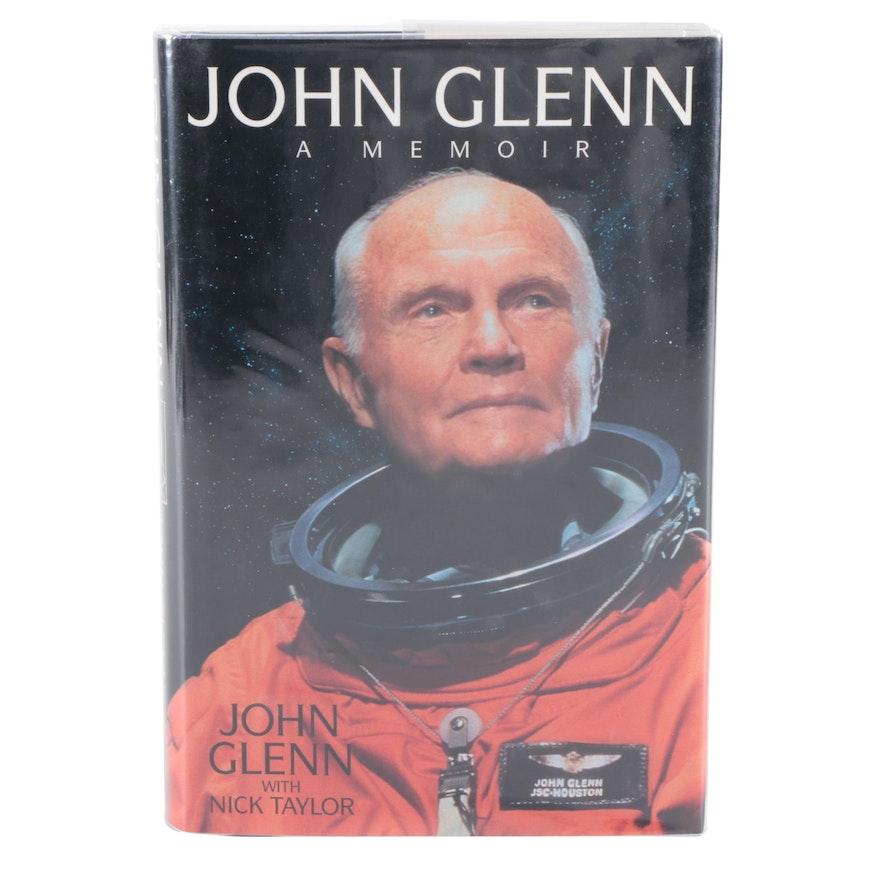 """Signed First Edition """"John Glenn: A Memoir"""" by John Glenn, 1999"""