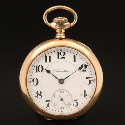 1913 Hamilton Railroad Grade Gold Filled Pocket Watch