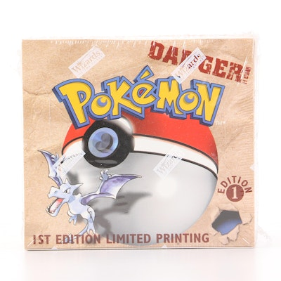 """Pokémon """"Fossil"""" First Edition Factory Sealed Card Set, 1999"""