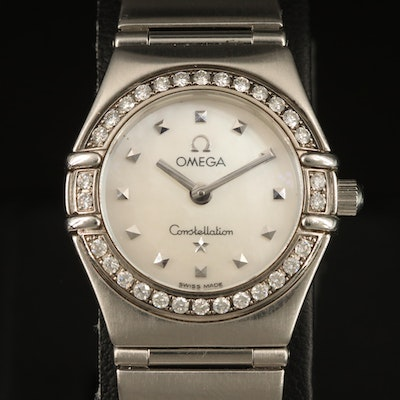 1998 Omega Constellation My Choice Stainless Steel, Diamond and MOP Wristwatch