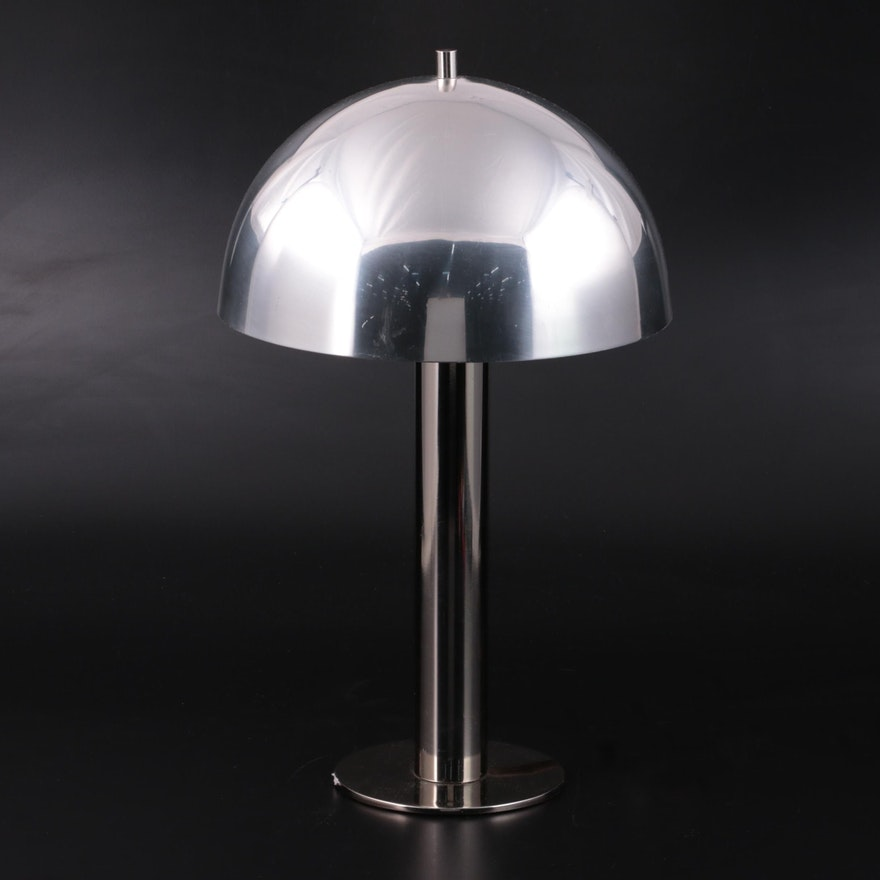 Sonneman for Laurel Lamp Co. Mid Century Modern Atomic Chrome Mushroom Lamp