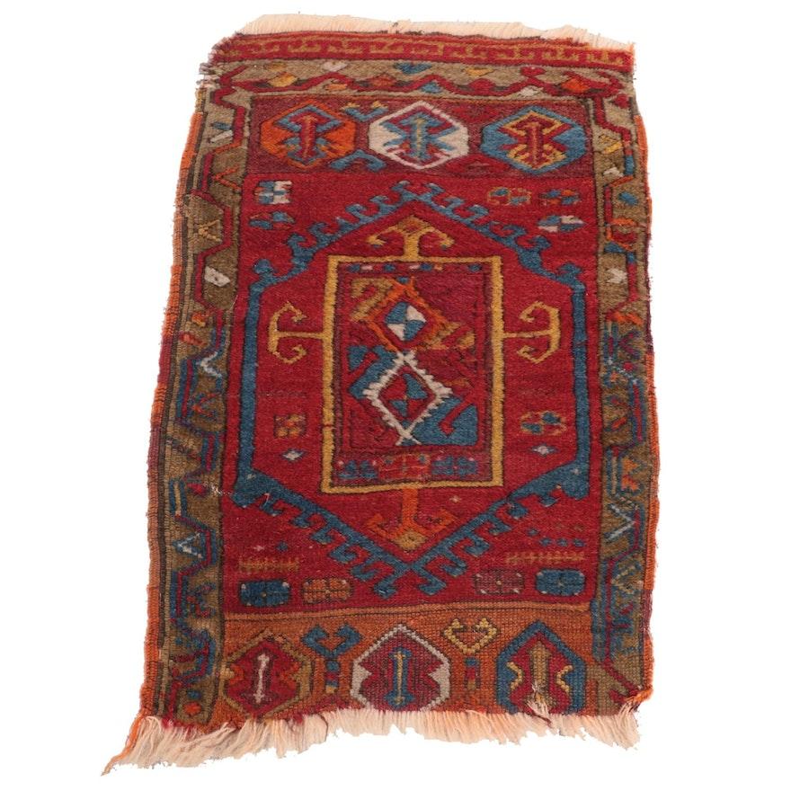 1'7 x 2'8 Hand-Knotted Turkish Eastern Anatolian Yastik Accent Rug